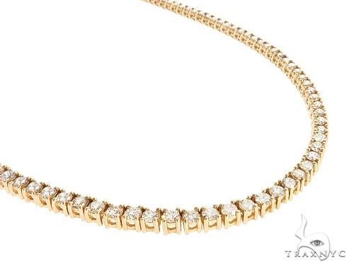 10k YG 4.5mm Diamond Tennis Necklace 64865 Diamond