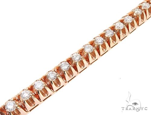 10k RG 7.5mm Diamond Tennis Bracelet 64876 Diamond