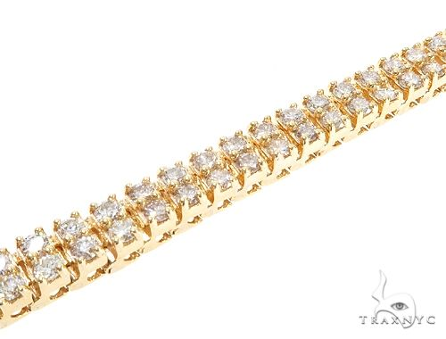 10k YG 5.5mm Diamond Tennis Bracelet 64872 Diamond