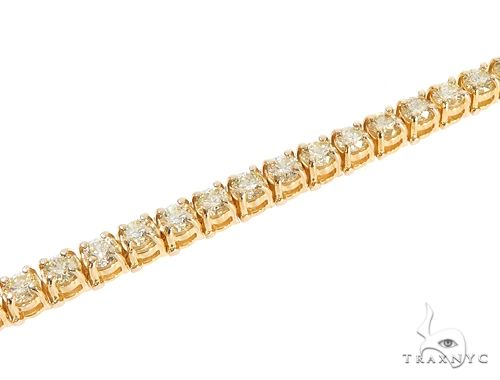 14k YG 4mm Diamond Tennis Bracelet 64875 Diamond