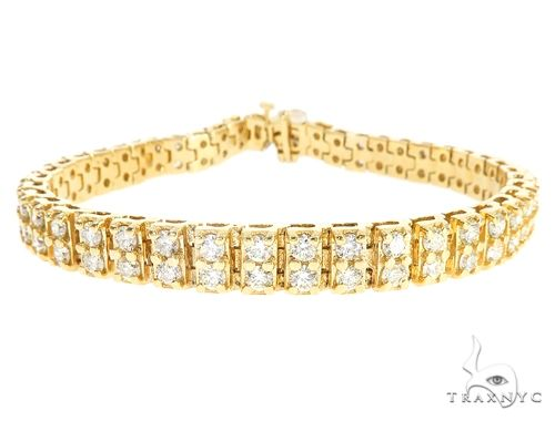 10k YG 7mm Diamond Tennis Bracelet 64868 Diamond