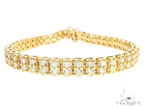 10k YG 7mm Diamond Tennis Bracelet 64868 Diamond