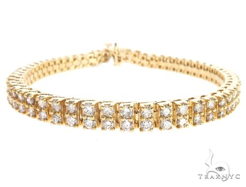 10k YG 5.5mm Diamond Tennis Bracelet 64871 Diamond