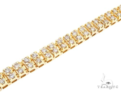 10k YG 5.5mm Diamond Tennis Bracelet 64871 Diamond