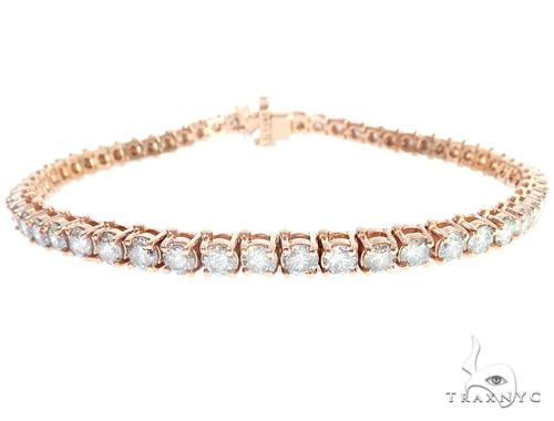 14k RG 4.5mm Diamond Tennis Bracelet 64879 Diamond