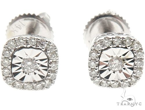 14k White Gold Diamond Stud Earrings 64900 Stone