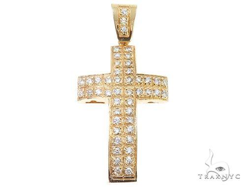 10k Diamond Cross Pendant 64927 Metal