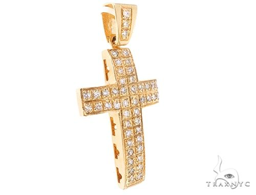 10k Diamond Cross Pendant 64927 Metal