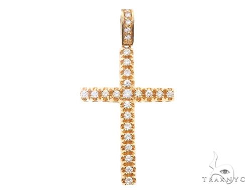 10k Diamond Cross Pendant 64928 Metal