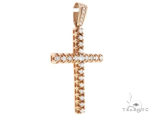 10k Diamond Cross Pendant 64929 Metal