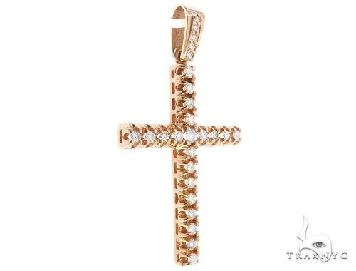 10k Diamond Cross Pendant 64929 Metal