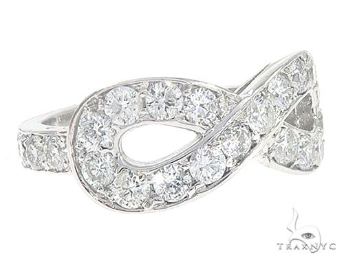 14k White Gold Diamond Infinity Ring 64932 Anniversary/Fashion