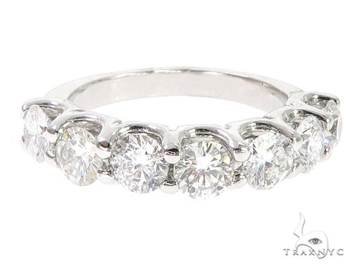 14k White Gold Diamond Half Eternity Band 64937 Anniversary/Fashion