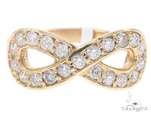14k Yellow Gold Diamond Infinity Ring 64940 Anniversary/Fashion