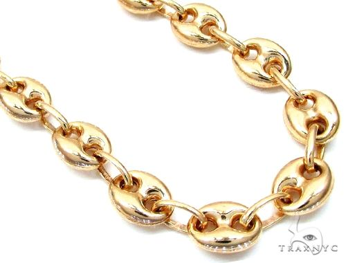 14K Yellow Gold Puffed Gucci Link Chain 24 Inches 6.5mm 23.9 Grams 64941 Gold