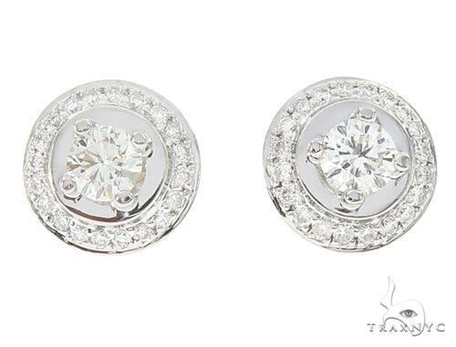 14k White Gold Diamond Stud Earrings 64943 Stone