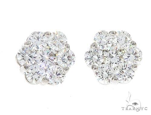 14k White Gold Diamond Stud Earrings 64944 Stone