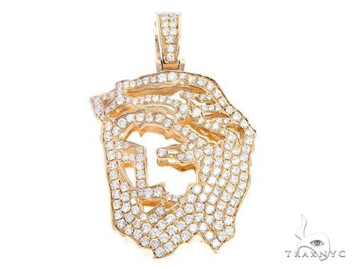 14k Yellow Gold Diamond Jesus Pendant 64946 Metal