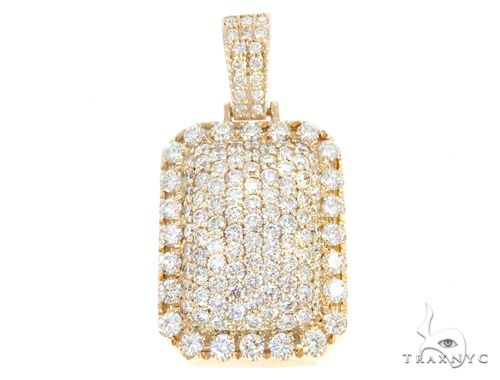 14k Yellow Gold Diamond Pendant 64957 Metal