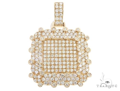 14k Yellow Gold Diamond Pendant 64958 Metal