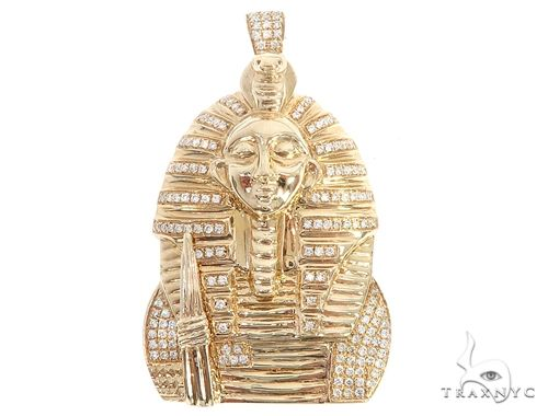 14k Yellow Gold Diamond Pharaoh Pendant 64959 Metal