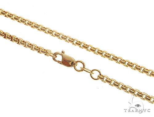14K Yellow Gold Round Box Link Chain 24 Inches 2mm 7.7 Grams 64962 Gold