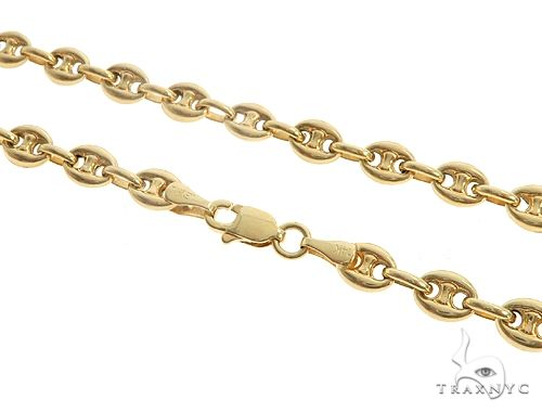 14K Yellow Gold Puffed Gucci Link 24 Inches 4.5mm 14.90 Grams 64964 Gold