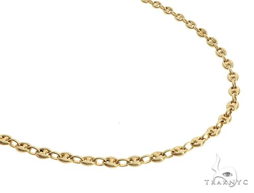14K Yellow Gold Puffed Gucci Link 24 Inches 4.5mm 13.2 Grams 64964 Gold