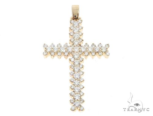 14k Gold Diamond Cross Pendant 64981 Metal