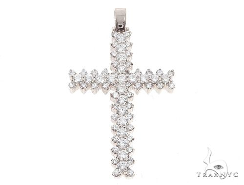 14k Gold Diamond Cross Pendant 64982 Metal