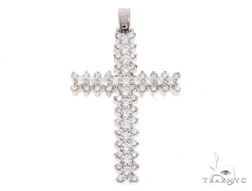14k Gold Diamond Cross Pendant 64982 Metal