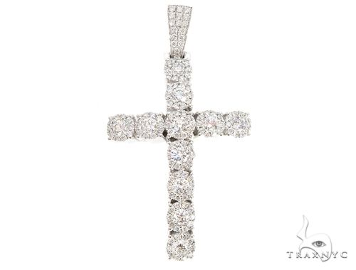 14k Gold Diamond Cross Pendant 64983 Metal