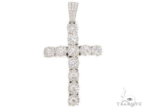 14k Gold Diamond Cross Pendant 64983 Metal