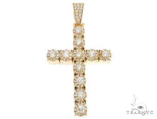 14k Gold Diamond Cross Pendant 64984 Metal