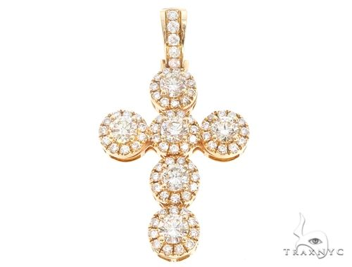 14k Gold Diamond Cross Pendant 64987 Metal
