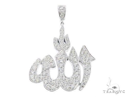 14k Gold Diamond Allah Pendant 64997 Metal