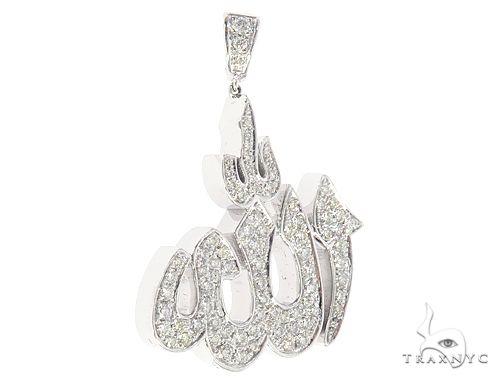 14k Gold Diamond Allah Pendant 64997 Metal