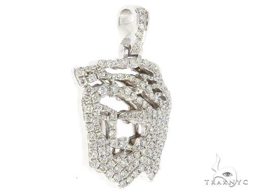 14k Gold Diamond Jesus Pendant 65000 Metal
