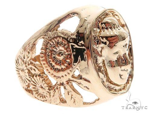 Custom 14K Yellow Gold Buddha Ring 65009 Metal