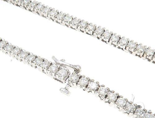 White Gold Diamond Chain 24 Inches, 3mm, 33.70 Grams Diamond
