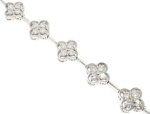 14k White Gold Diamond Bracelet 65024 Diamond