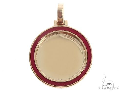 14k Yellow Gold 20mm Customizable Photo Pendant 65044 Style