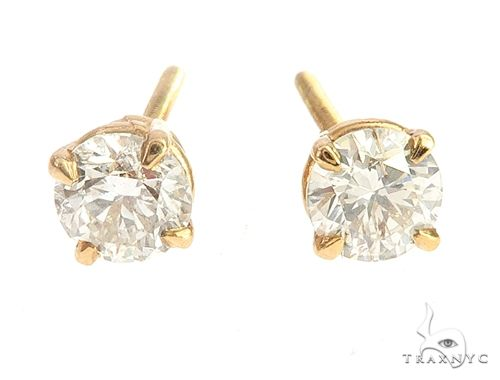 14k Yellow Gold Diamond Stud Earrings 65050 Stone