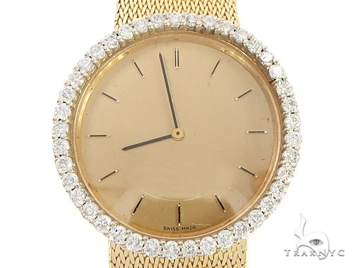 18k Yellow Gold Diamond Bezel Omega Watch 65051 Diamond Watch Inactive