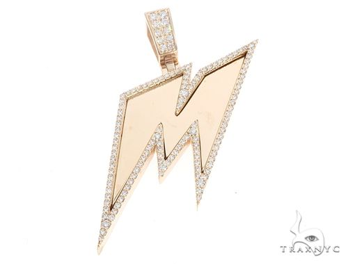 14k Yellow Gold Custom Made 'M' Pendant 65055 Metal