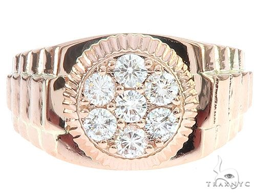 Rose Gold Timepiece Solitaire Ring 65065 Stone