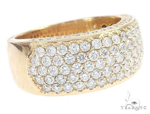 14k Yellow Gold Prong Diamond Band 65069 Stone