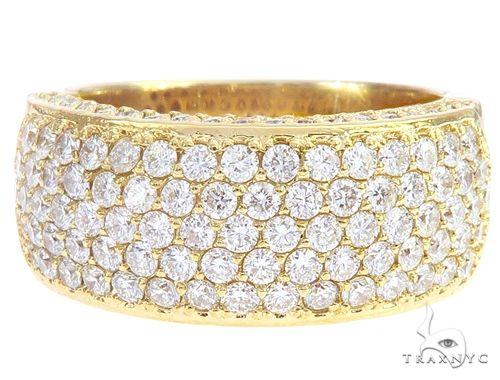 14k Yellow Gold Prong Diamond Band 65069 Stone