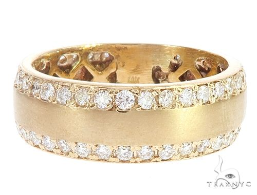 14k Yellow Gold Diamond Ring Wedding Band 65070 Stone