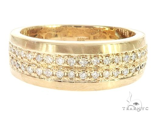14k Yellow Gold Diamond Wedding Band 65068 Stone